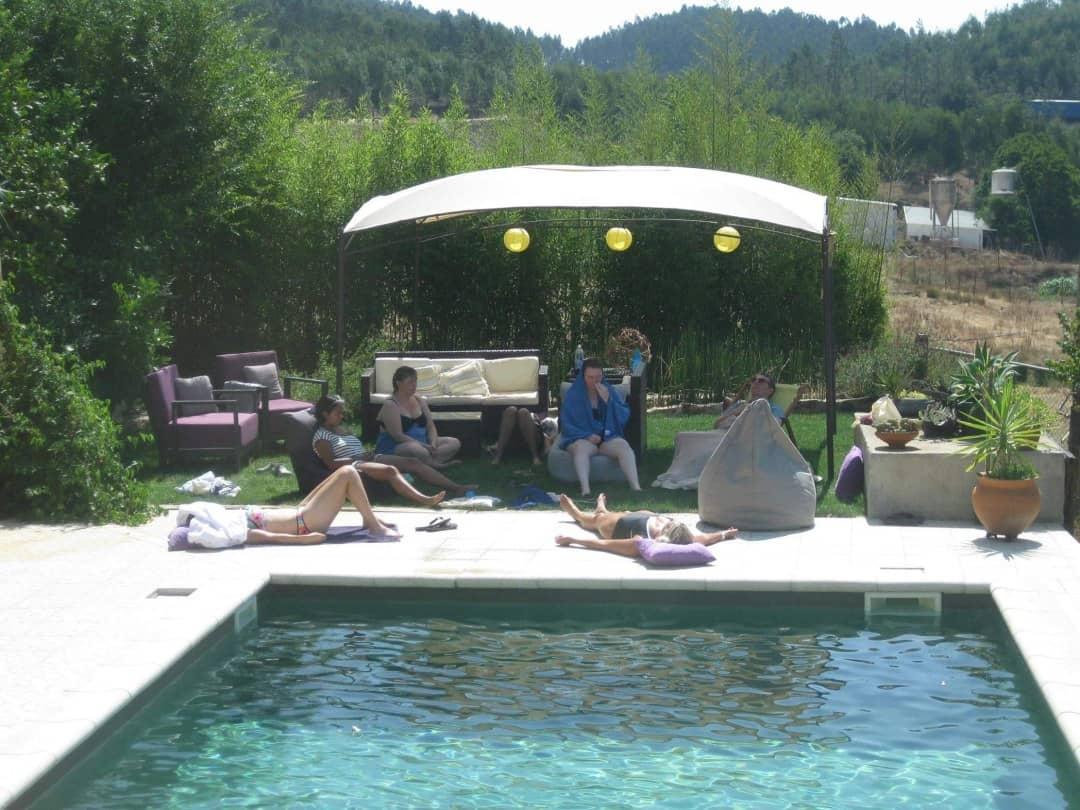 Poolside in Portugal