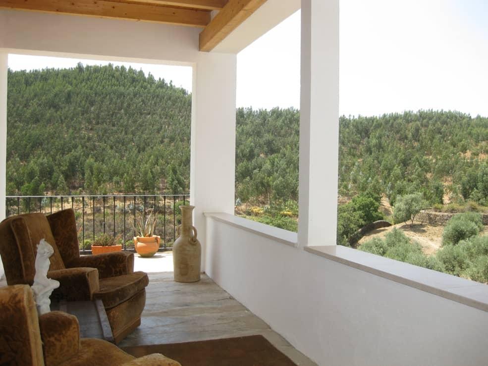 Mountain View on Balcony