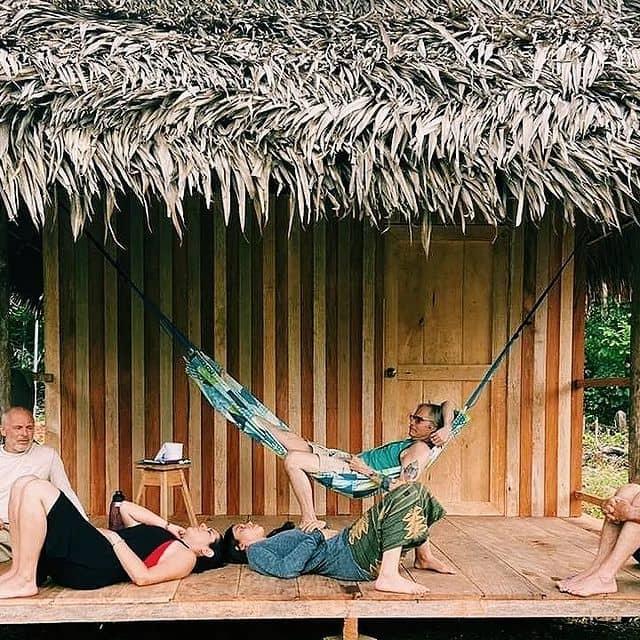 Laying in Hammock in Jungle